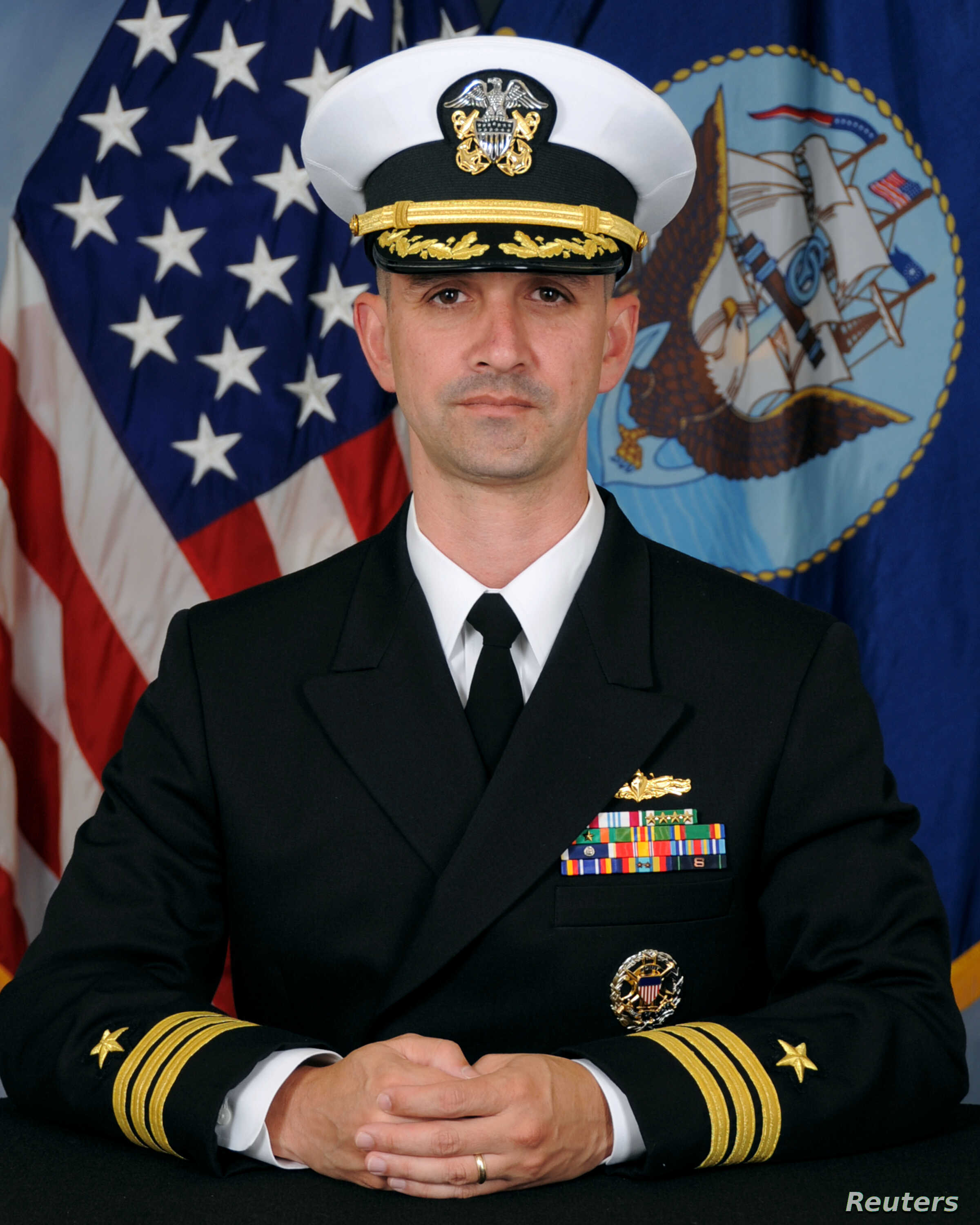 Commander Alfredo J. Sanchez, commanding officer of U.S.S. John S. McCain, is seen in this undated handout picture obtained October 11, 2017