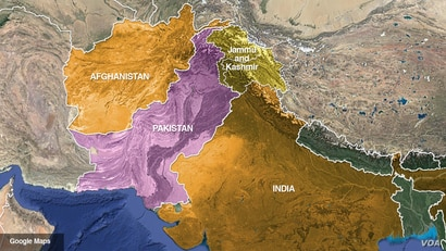 Pakistan, Afghanistan and India