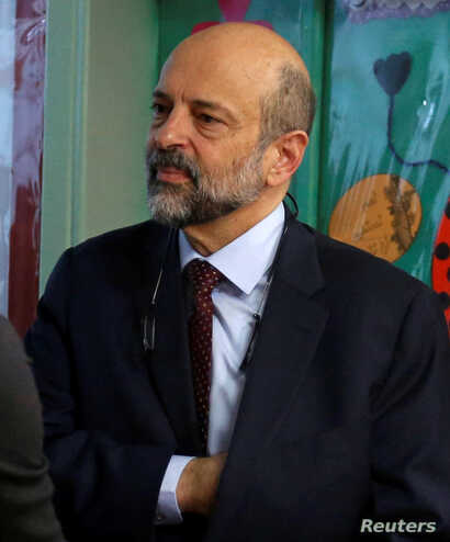 FILE - Omar al-Razzaz is seen in Amman, Jordan, April 10, 2018.