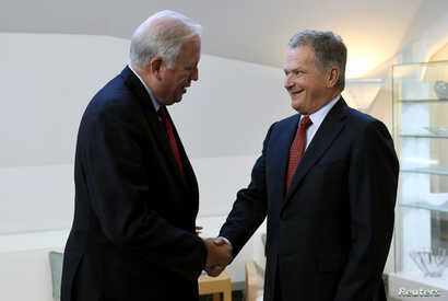 President of Finland Sauli Niinisto meets U.S. Undersecretary of State Tom Shannon, who is in Finland for negotiations with Russian Deputy Foreign Minister Sergei Ryabkov,  Helsinki, Finland, Sept. 11, 2017.