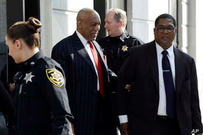 Bill Cosby departs after a pretrial hearing in his sexual assault case, March 29, 2018, at the Montgomery County Courthouse in Norristown, Pa.