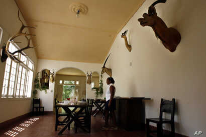 FILE - The former home of late American writer Ernest Hemingway (1899-1961), now a museum in Finca Vigia, Cuba, July 2, 2008.
