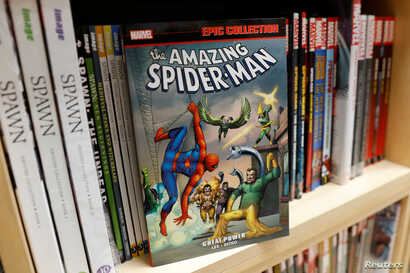 A Spider-Man comic book is seen in this photo illustration taken Nov. 12, 2018.