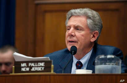FILE - Rep. Frank Pallone, D-N.J., speaks during a hearing of the Committee on Energy and Commerce on Capitol Hill, May 8, 2018.