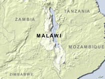 Map of Malawi.