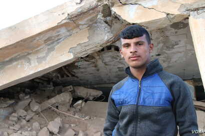 Suliman, 17, says he saw bodies of children and women on the front lines in Baghuz, Syria, where IS is fighting for its last sliver of land. IS may be almost finished officially, he says, but attacks continue daily. March 2, 2019, in Tel Hamees, Syri...