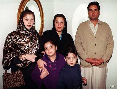 """FILE - Mohammed Safdar, son-in-law of Pakistan's recently ousted prime minister, is seen in a family photo taken Dec. 10, 2000, in Islamabad. Safdar, a national assemblyman, said members of the Ahmadiyya sect are a """"danger to this country, this natio..."""