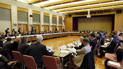 Delegates of more than 60 countries and organizations attend the international meeting to coordinate sanctions on the government of Syrian President Bashar Assad in Tokyo, Japan, November 30, 2012.