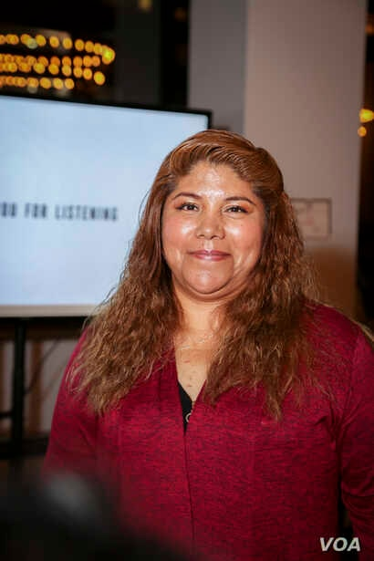 Labor trafficking survivor and movement leader Flor Molina received the 2018 Fashion for Freedom Award in New York. (Courtesy Anthony Cali)