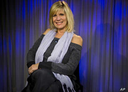 FILE - Singer Debby Boone poses for a photo at the AP television studios in Los Angeles, Dec. 8, 2017.