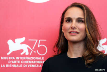 "Actor Natalie Portman, star of the film ""Vox Lux,"" at the 75th Venice International Film Festival, Venice, Italy, Sept. 4, 2018."