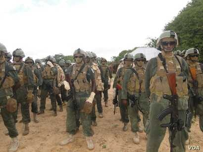 Gaashaan rapid reaction force. (Somalia Handout Photo)