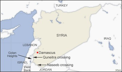Naseeb and Quneitra crossings, Syria