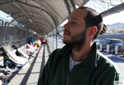 """Eddy Gonzalez is a Cuban migrant who has been on the journey to the U.S. for the past three years. """"If I have been almost three years away from my country, six days sleeping here on the floor, what's three months detained in a prison?"""" Gonzalez..."""