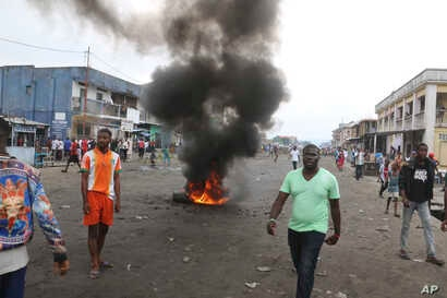 Congolese protest against President Joseph Kabila's refusal to step down from power in Kinshasa, Democratic Republic of Congo, Dec. 31, 2017.