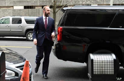 Rick Gates arrives at federal court in Washington, Feb. 23, 2018.