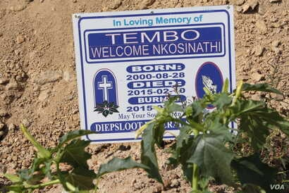 The cemetery of Johannesburg's Diepsloot settlement contains the graves of many young people, including some victimized by brutal crimes.