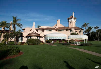 FILE - President Donald Trump's Mar-a-Lago estate is seen in Palm Beach, Fla., Dec. 24, 2017, one of many properties owned by the president where special interests are holding meetings, putting money in his pockets as they seek to influence his admin...