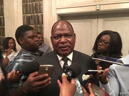 Misheck Sibanda, President Robert Mugabe's chief secretary, says Zimbabwe is happy with what the U.N. is doing to promote development, March 2017. (S. Mhofu/VOA)