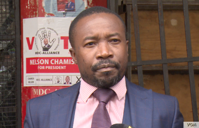 Jacob Mafume, spokesman for opposition Movement for Democratic Change says army and police assaulting protestors (C Mavhunga/VOA)