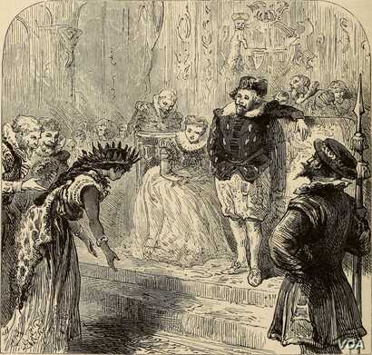 A fanciful 1875 imagining of Pocahontas' presentation in the royal British court.