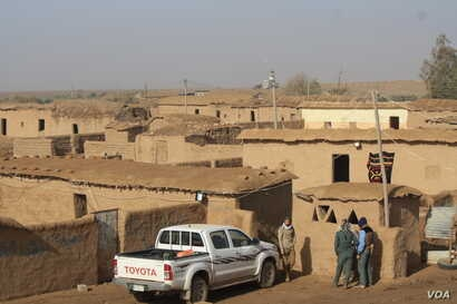 This village, abandoned after IS militants took over the area is a temporary headquarters for Hashd Shaabi forces, fighting their way to the strategic city of Tal Afar on Dec. 17, 2016 in Delawaya, Iraq.