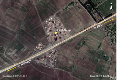 According to Amnesty International, on Oct. 16, 2017 a US drone targeted a vehicle carrying suspected Al-Shabaab fighters. The first strike missed, hitting the Farah Waeys settlement and killing two civilians and injuring five civilians, including tw...