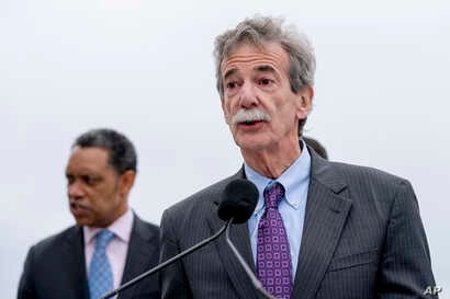 Maryland Attorney General Brian Frosh, speaks at a news conference near the White House, Feb. 26, 2018 in Washington.