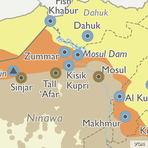Map detail: Mosul area