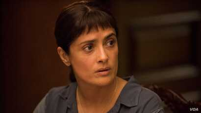 Salma Hayek stars in 'Beatriz at Dinner,' a dark comedy about immigration and privilege. (Photo courtesy Roadside Attractions)