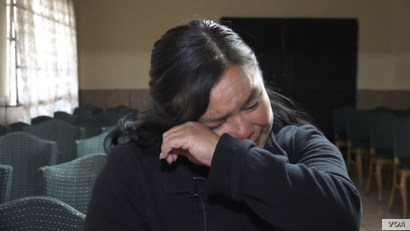 Olivia Juarez supports four children, several grandchildren and her mother by working multiple jobs. She did not tell them when she tried to 'make it' to the U.S. (R.Taylor/VOA)