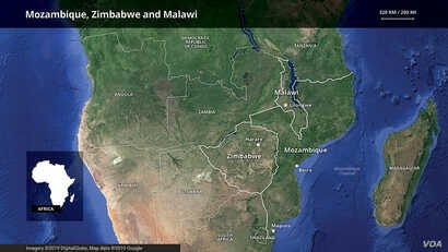 Mozambique, Zimbabwe and Malawi