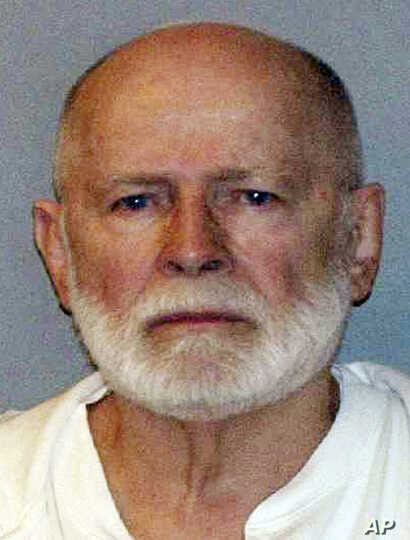 "FILE - This June 23, 2011, booking photo provided by the U.S. Marshals Service shows James ""Whitey"" Bulger. The former mobster was found dead in a West Virginia prison Oct. 30, 2018, at age 89."