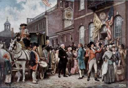 George Washington's Inauguration by Jean Leon Gerome Ferris (courtesy of the Library of Congress)