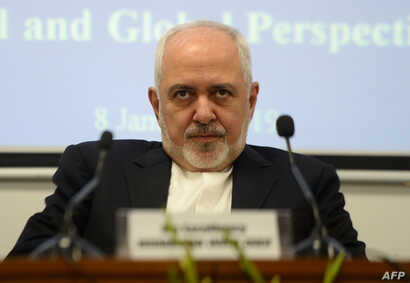 Iranian Foreign Minister Javad Zarif attends the geopolitical discussion event in New Delhi, Jan. 8, 2019. Zarif protested to Poland for its hosting with the U.S. a summit focused on the Mideast and especially Iran.
