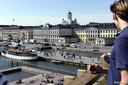 The Market Square and the Presidential palace pictured in Helsinki, Finland, June 28, 2018. U.S. President Donald Trump and Russian President Vladimir Putin are to meet in Helsinki, the capital of Finland, July 16, 2018.