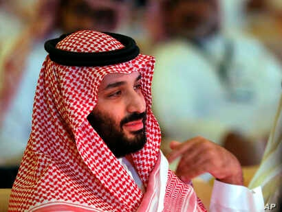 FILE - Saudi Crown Prince Mohammed bin Salman attends the second day of the Future Investment Initiative conference, in Riyadh, Saudi Arabia.