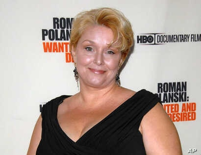 "FILE - Samantha Geimer arrives at the premiere of the HBO Documentary ""Roman Polanski: Wanted and Desired"" in New York, May 6, 2008. A lawyer for Polanski says Geimer, Polanski's victim, will appeal to a judge to end the case against him."