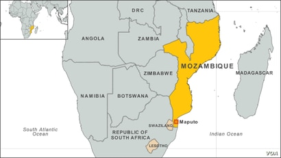 Mozambique map