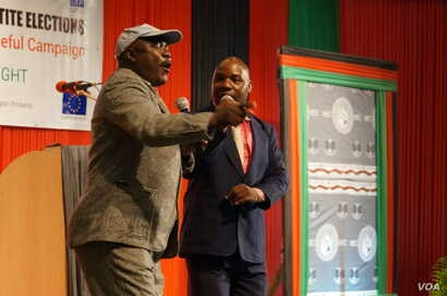 The ceremony was also spiced up by comedians who sensitised the audience on the need of peaceful elections.