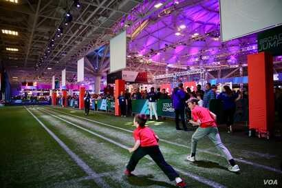 It's a family-friendly, interactive theme park where fans of all ages can run some of the same football drills as the pros. They kick, pass, catch and run … albeit badly when compared to the players who buckle their chinstraps and put the NFL's...
