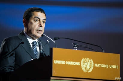 Nassir Abdulaziz Al-Nasser, United Nations High Representative for the Alliance of Civilizations, before the Mediterranean Concert at the Chamber of the Alliance of Civilizations & Human Rights, Palais des Nations, U.N., Geneva, Switzerland, July 9, ...