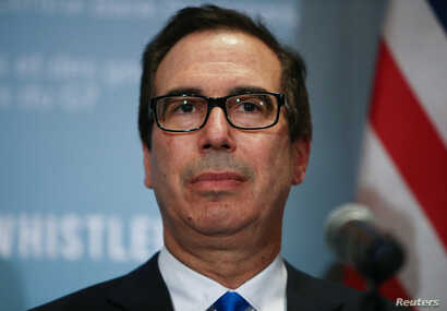 U.S. Secretary of the Treasury Steven Mnuchin holds a news conference after the G7 Finance Ministers Summit in Whistler, British Columbia, Canada, June 2, 2018.