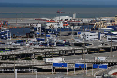 FILE - The port of Calais, France, is seen June 24, 2016.