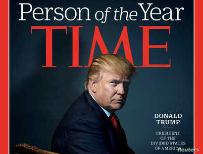 """U.S. President-elect Donald Trump appears on the cover of Time Magazine after being named its person of the year. Trump questioned claims that Russia interfered in the U.S. elections via cyber warfare. """"I don't believe they interfered,"""" Trump told Ti..."""