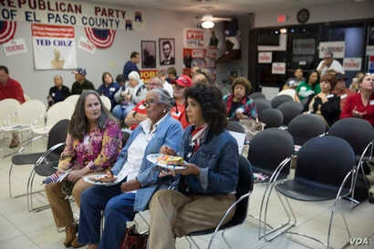At the GOP headquarters in El Paso, Texas, voters gathered moments before U.S. Sen. Ted Cruz, R-Texas, narrowly defeated Democratic challenger Beto O'Rourke Tuesday evening.