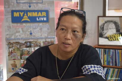 Patima Tungpuchayakul from Thai advocacy group, the Labor Rights Promotion Network Foundation, speaks during an interview in Samut Sakhon, Thailand, March 25, 2018.