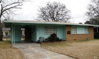FILE - The house of slain civil rights leader Medgar Evers is seen in Jackson, Mississippi, Jan. 29, 2008.