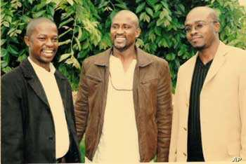 Madlingozi with friends before a recent awards ceremony in South Africa…The singer maintains a relatively low public profile, even though he's immensely popular throughout Africa