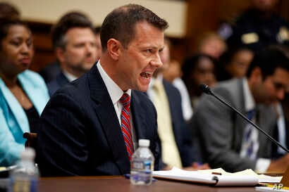 """FBI Deputy Assistant Director Peter Strzok testifies before the House Committees on the Judiciary and Oversight and Government Reform during a hearing on """"Oversight of FBI and DOJ Actions Surrounding the 2016 Election,"""" on Capitol Hill, July 12, 2018..."""